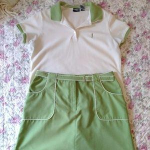 IZOD Golf set (shirt & skort) Great condition